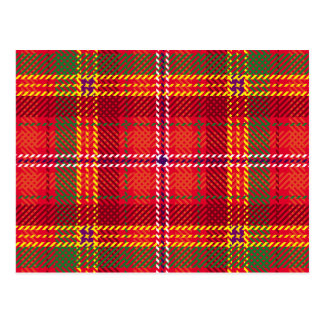 gingham,patchwork,green,red,white,orange,yellow, postcard