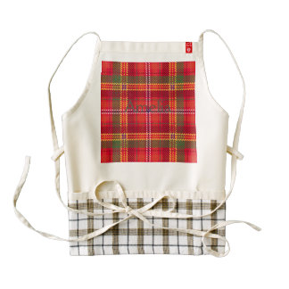 gingham,patchwork,green,red,white,orange,yellow, zazzle HEART apron