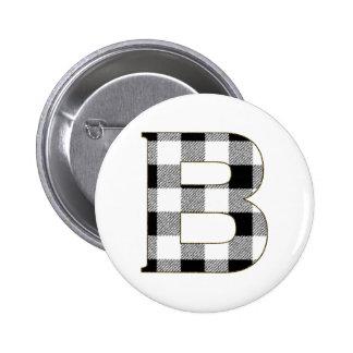 Gingham Pattern B Pinback Button