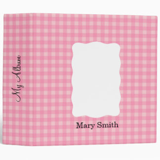 "Gingham Pattern Binder 2""  Custom / Personalized"