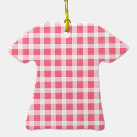 Gingham Pattern Ornament