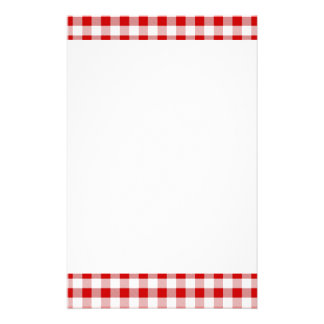 Gingham Pattern Stationery