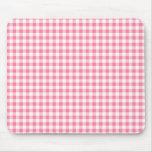 Gingham Pink Mousepad