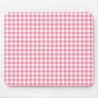 Gingham Pink Mousepad