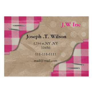 gingham pink retro Business Cards