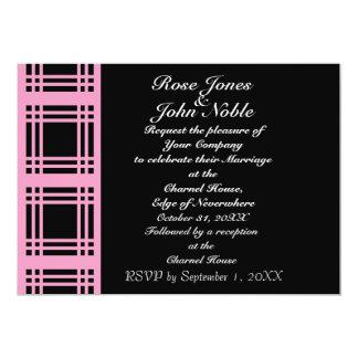 Gingham (Pink) Wedding Invitation