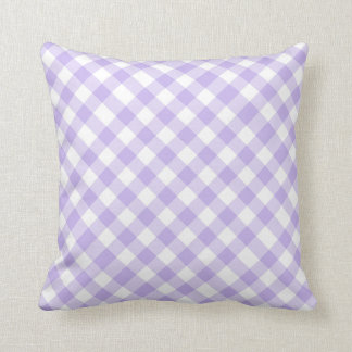 gingham plaid checks checker pattern purple throw pillow