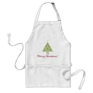 Gingham Plaid Christmas Tree Adult Apron