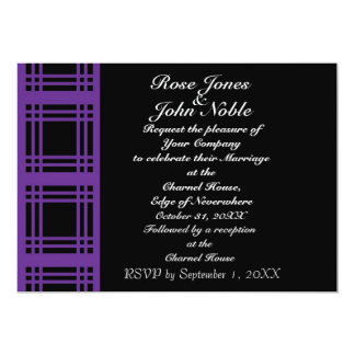 Gingham (Purple) Wedding Invitation