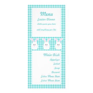 Gingham Rabbit Menu Card