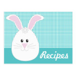 Gingham Rabbit Recipe Postcard