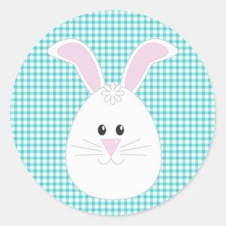 Gingham Rabbit Sticker