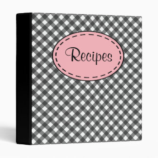Gingham Recipe Binder