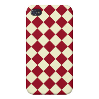 Gingham Red and White Design iPhone 4 Cover