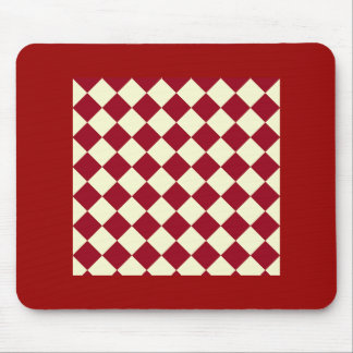 Gingham Red and White Design Mouse Pad