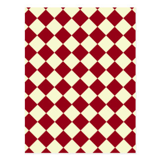 Gingham Red and White Design Postcard
