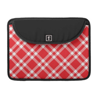 Gingham red check pattern sleeve for MacBook pro