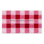 Gingham Red & Hearts Painting Double-Sided Standard Business Cards (Pack Of 100)