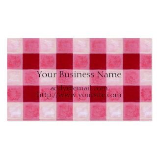 Gingham Red & Hearts Painting Business Card