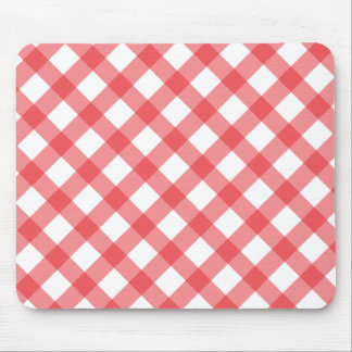 Gingham Red Pattern Mouse Pad