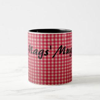 Gingham Red Tablecloth Check Mug