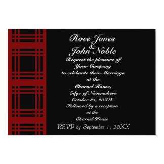 Gingham (Red) Wedding Invitation