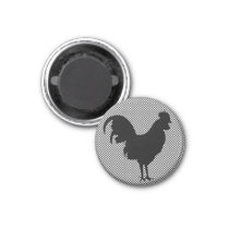 Gingham Rooster Magnet