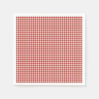 Gingham-Rustic Orange-Paper Napkins