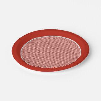 Gingham-Rustic Orange-Paper Plates