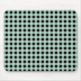 Gingham Seafoam and Black Mouse Pad