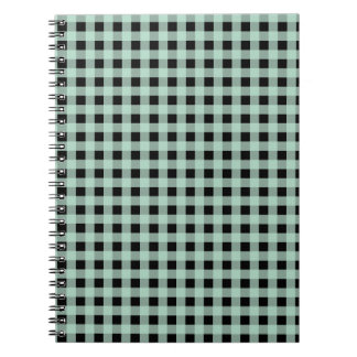 Gingham Seafoam and Black Journals
