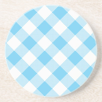 Gingham Series---Blue Coaster 1 of  many colors