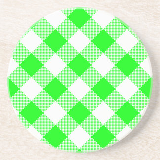 Gingham Series---Green Coaster 1 of  many colors