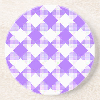 Gingham Series---Purple Coaster 1 of  many colors