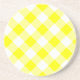 Gingham Series---Yellow Coaster 1 of  many colors