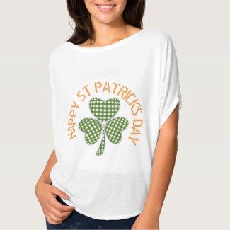 Gingham Shamrock with Happy St Patricks Day Shirt