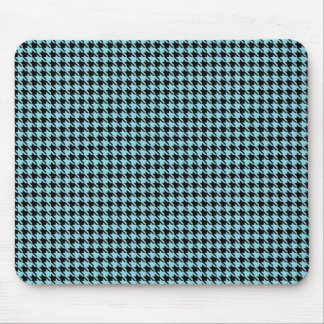 Gingham Sky and Black Mouse Pad