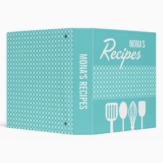 Gingham & Utensils Recipe Binder