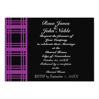 Gingham (Violet) Wedding Invitation