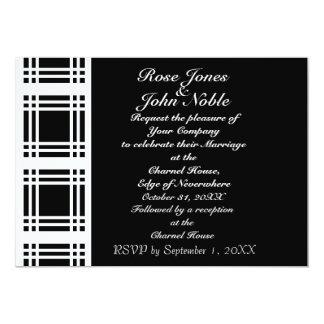 Gingham (White) Wedding Invitation
