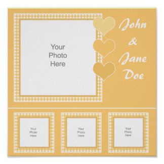 Gingham Yellow Scrapbook Page Poster