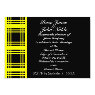 Gingham (Yellow) Wedding Invitation