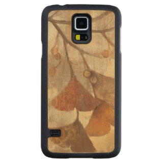 Gingko Carved Maple Galaxy S5 Slim Case