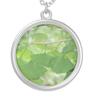 gingko forever round pendant necklace