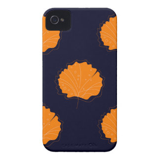 Gingko hand drawn Gold illustrated Edition iPhone 4 Case-Mate Case