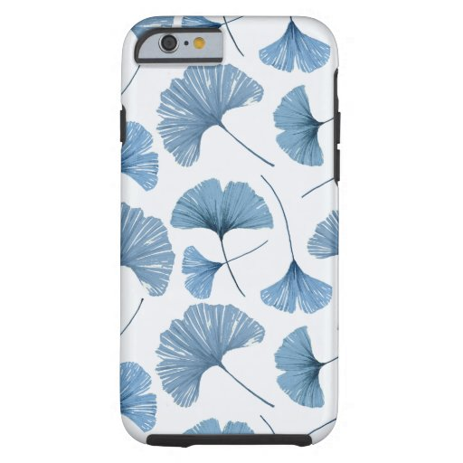 Gingko leaf blue and white pattern  tough iPhone 6 case