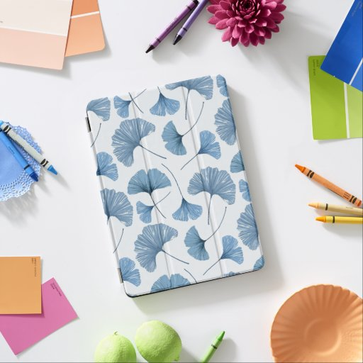 Gingko leaf blue and white pattern   iPad pro cover