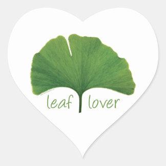 Gingko Leaf Heart Sticker