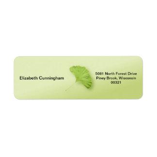 Gingko Leaf Label