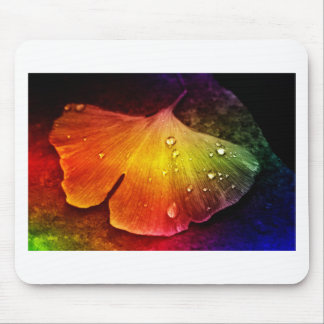 Gingko leaf multicolored by Tutti Mouse Pad
